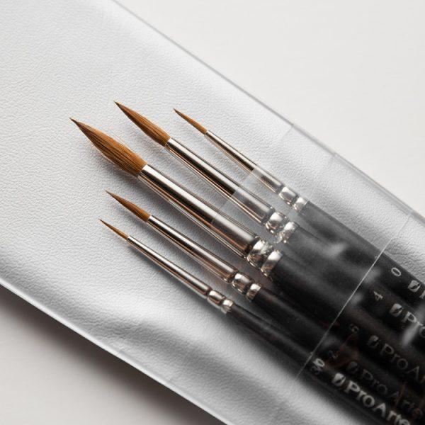 PRO ARTE : SABLE : BRUSH WALLET SET OF 5 - Fine Art Design Studio