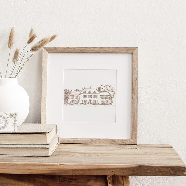 Home or Venue Sketch   Bespoke Illustration   Fine Art Design Studio