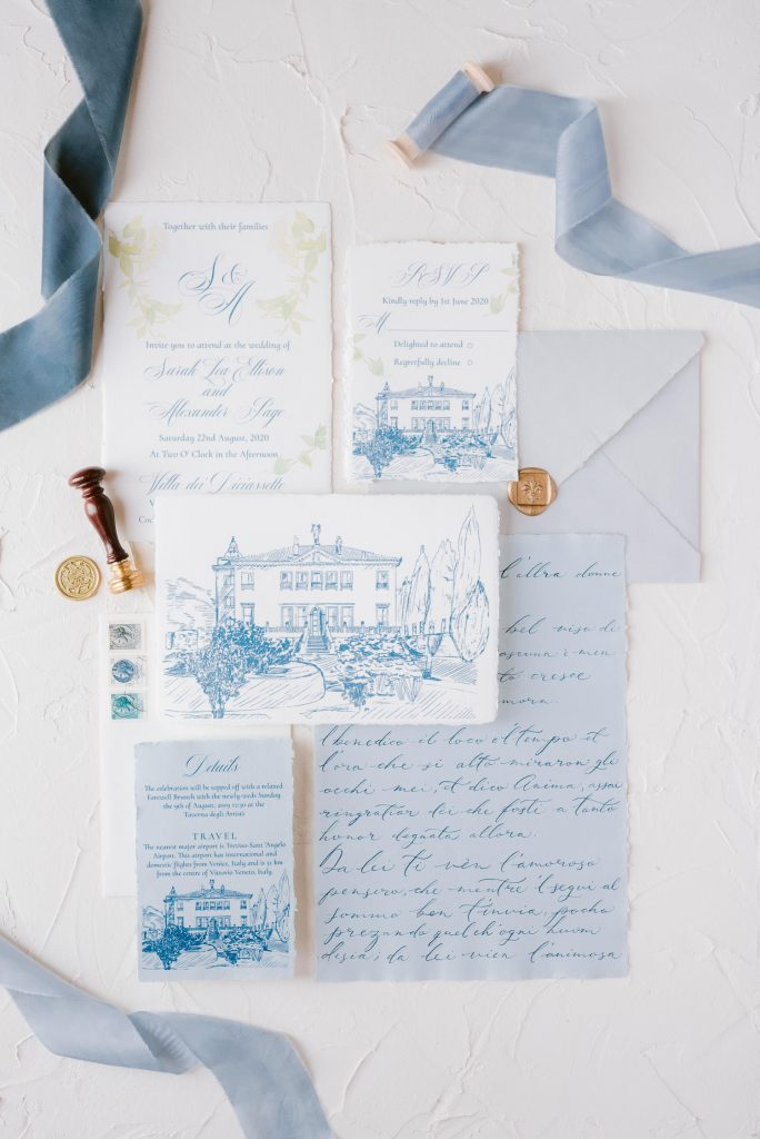 fine art wedding stationery design