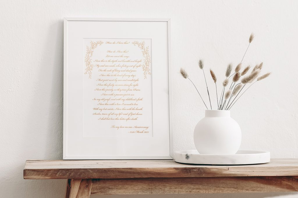 Bespoke Calligraphy Poem or Letter - Fine Art Design Studio